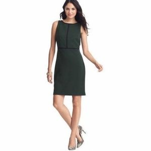 Loft | Hunter Green Structured Sheath Dress Sz 2